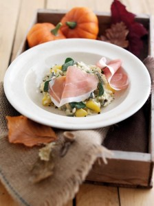 Parma Ham, Gorgonzola, Sage and Pumpkin Halloween Risotto
