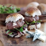 Mini Bonfire Burgers Stuffed with Creamy Gorgonzola