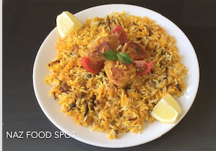steam cooked chicken biryani